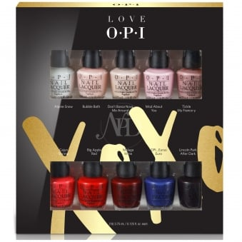 Love OPI XOXO 2017 Mini Nail Polish Collection - 10 Piece Love OPI Mini (HRJ23) 10x 3.75ml