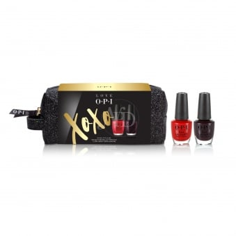 Love OPI XOXO 2017 Nail Polish Collection - Lacquer Duo Pack With FREE Cosmetic Bag (HR J25)