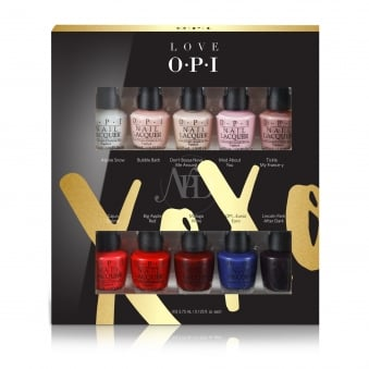 Love OPI XOXO 2017 Nail Polish Collection - Mini Lacquer 10 Pack (HR J23)