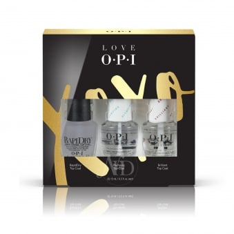 Love OPI XOXO 2017 Nail Polish Collection - Top Coat Trio Pack (HR J30)