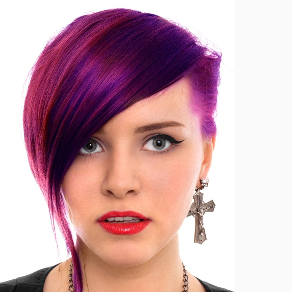- Semi Permanent Hair Dye - Purple Haze - Comes With Free Tint Brush