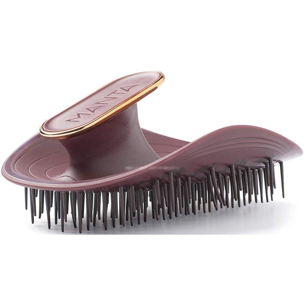 Manta Heat Resistant Patented Flexguard 360 Motion Healthy Hair Brush - Burgundy