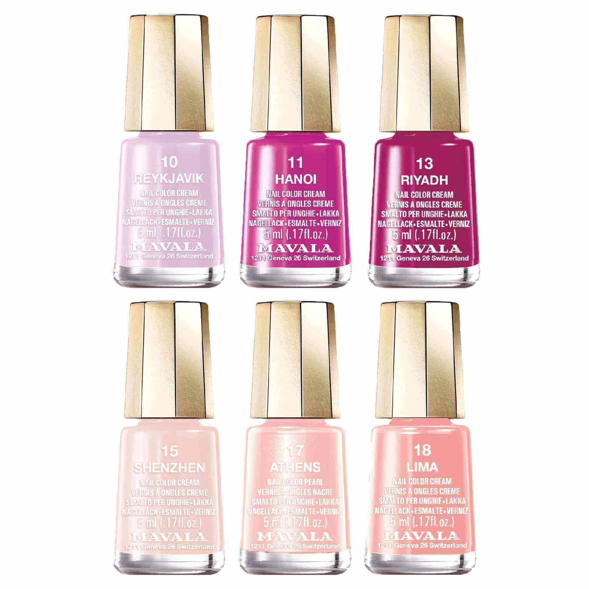 Mavala Blush Color's Nail Polish Collection