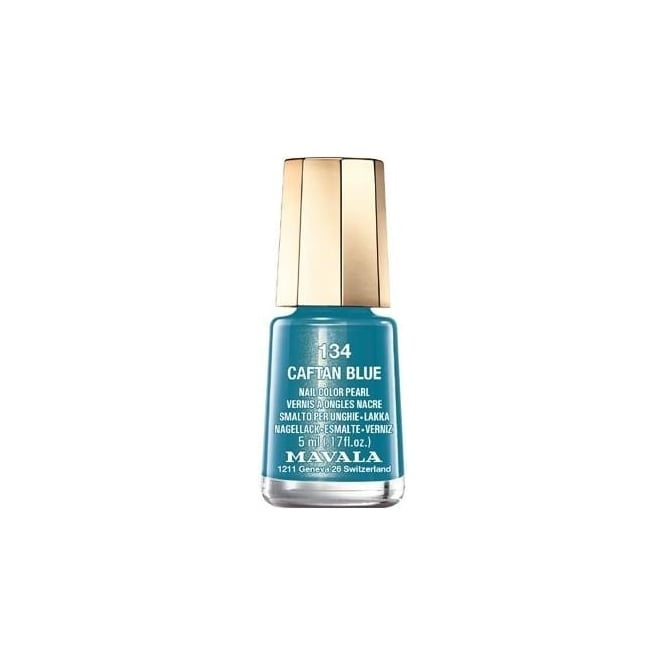 Mavala Mini Autumn Fantasy Color Creme Nail Polish Collection - Caftan Blue (134) 5ml