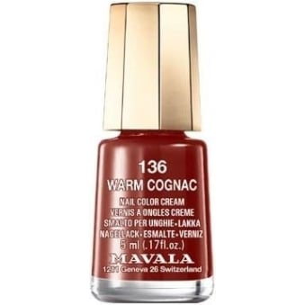 Mini Autumn Fantasy Color Creme Nail Polish Collection - Warm Cognac (136) 5ml