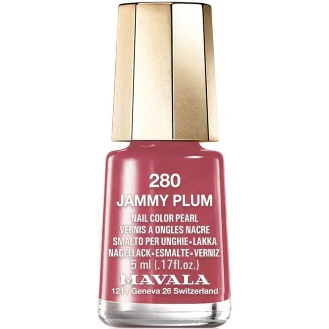 Mavala Mini Color Creme Gel Effect Nail Polish - Jammy Plum (280) 5ml