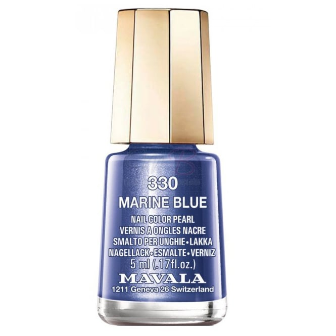 Mavala Mini Color Creme Gel Effect Nail Polish - Marine Blue (330) 5ml