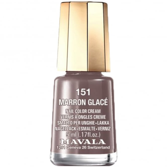 Mavala Mini Color Creme Gel Effect Nail Polish - Marron GlacÌÎÌ_Ì´å© (151) 5ml