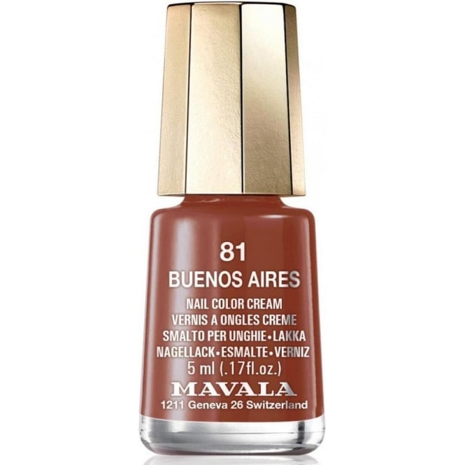Mavala Mini Color Creme Gel Symphony Effect Nail Polish Collection - Buenos Aires (81) 5ml