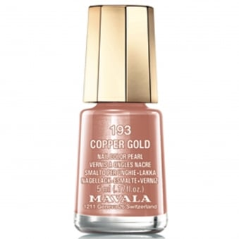 Mini Color Creme Nail Polish Copper Gold (193) 5ml