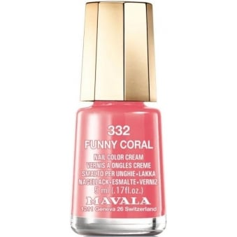 Mini Color Creme Nail Polish - Funny Coral (332) 5ml