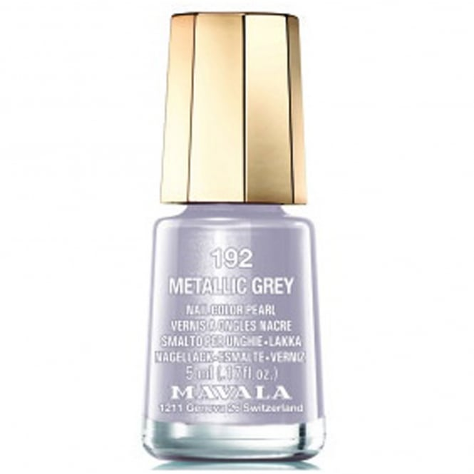Mavala Mini Color Creme Nail Polish Metallic Grey (192) 5ml