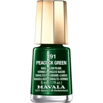 Mini Color Creme Nail Polish - Peacock Green (191) 5ml