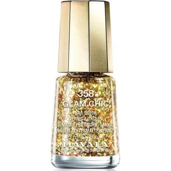 Mini Color Glitter Glamour Nail Polish Collection - Glam Chic (358) 5ml