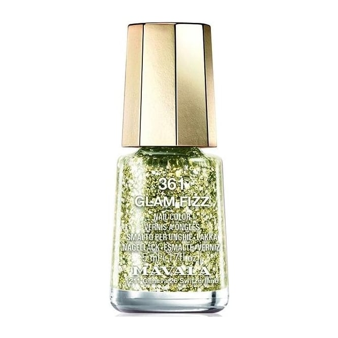 Mavala Mini Color Glitter Glamour Nail Polish Collection - Glam Fizz (361) 5ml