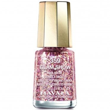 Mini Color Glitter Glamour Nail Polish Collection - Glam Show (359) 5ml