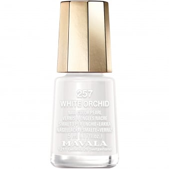 Mini Color Pearl Effect Nail Polish - White Orchid (257) 5ml