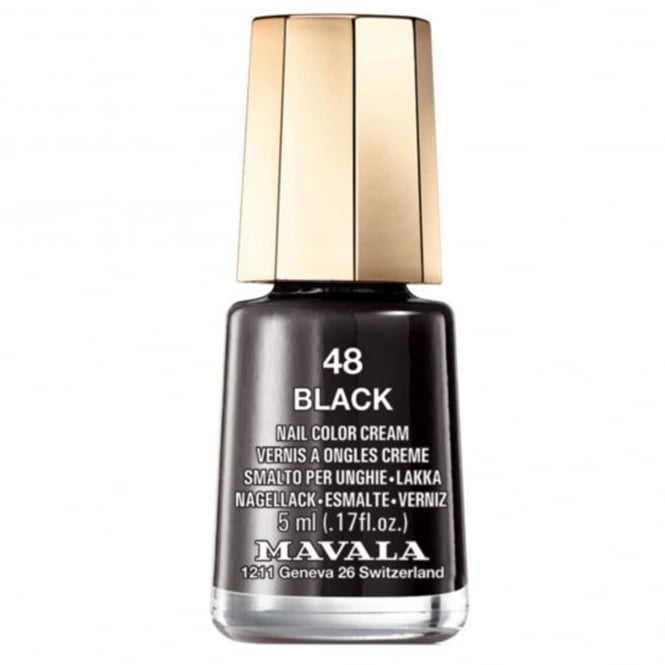 Mavala Mini Nail Color Creme Nail Polish - Black (48) 5ml