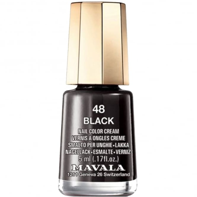Mavala Mini Nail Color Creme Nail Polish - Black Night (107) 5ml