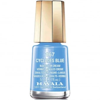 Mini Nail Color Creme Nail Polish - Cyclades Blue (167) 5ml