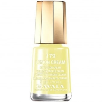 Mini Nail Color Creme Nail Polish - Lemon Cream (179) 5ml