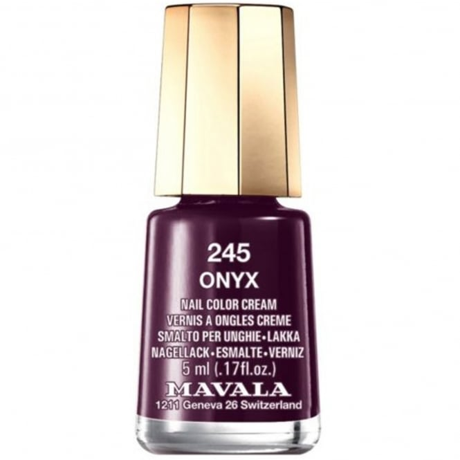 Mavala Mini Nail Color Creme Nail Polish - Onyx (245) 5ml