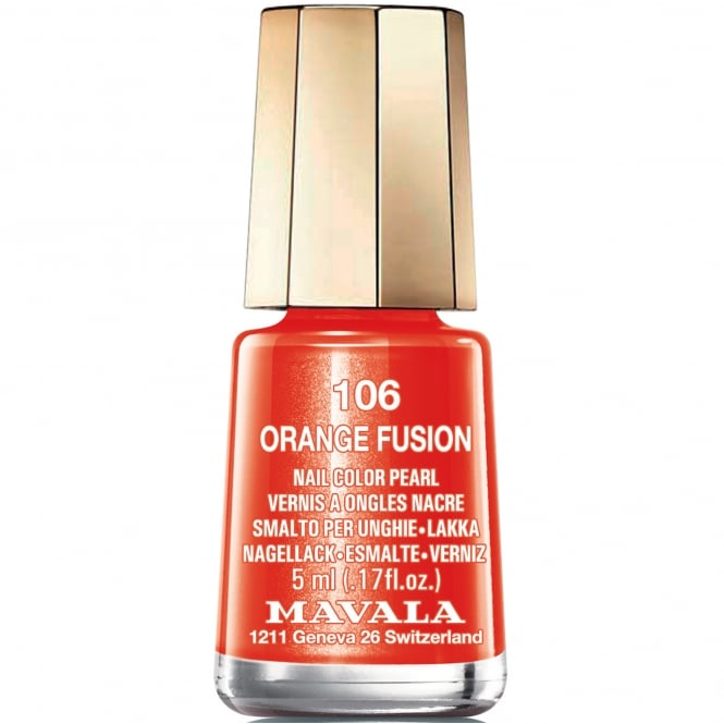 Mavala Mini Nail Color Creme Nail Polish - Orange Fusion (106) 5ml