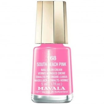 Mini Nail Color Creme Nail Polish - South Beach Pink (168) 5ml
