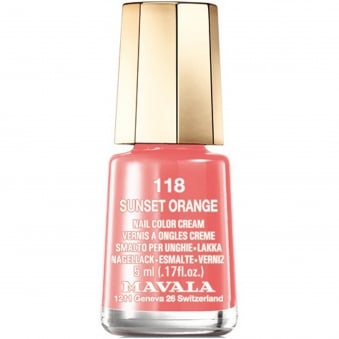 Mini Nail Color Creme Nail Polish - Sunset Orange (118) 5ml