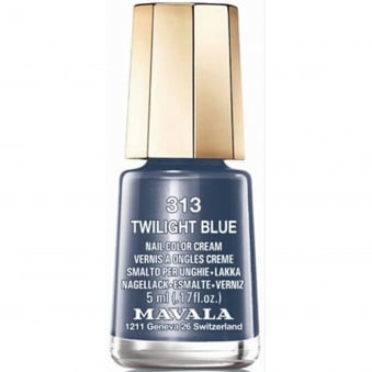 Mini Nail Color Creme Nail Polish - Twilight Blue (313) 5ml