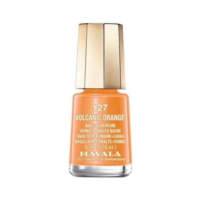 Mavala Mini Nail Color Creme Nail Polish - Volcanic Orange (127) 5ml