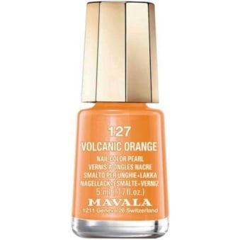 Mini Nail Color Creme Nail Polish - Volcanic Orange (127) 5ml