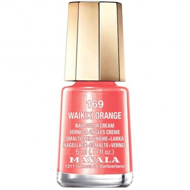 Mavala Mini Nail Color Creme Nail Polish - Waikiki Orange (169) 5ml