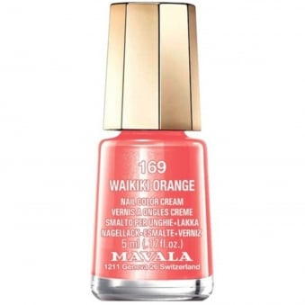 Mini Nail Color Creme Nail Polish - Waikiki Orange (169) 5ml