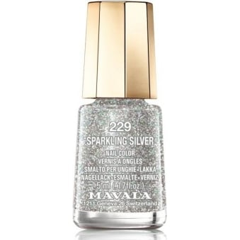 Mini Nail Color Nail Polish - Sparkling Silver (229) 5ml