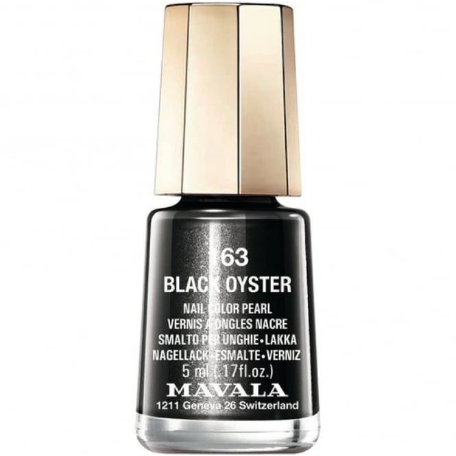 Mavala Mini Nail Color Pearl Nail Polish - Black Oyster (163) 5ml