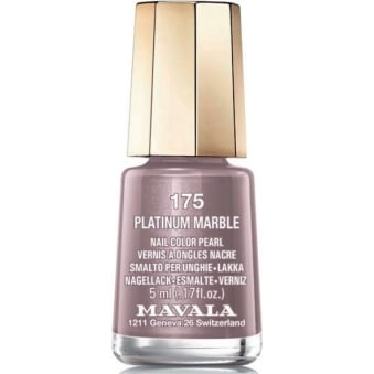 Mini Nail Color Pearl Nail Polish - Platinum Marble (175) 5ml