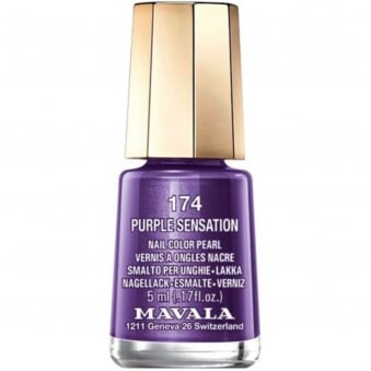 Mini Nail Color Pearl Nail Polish - Purple Sensation (174) 5ml