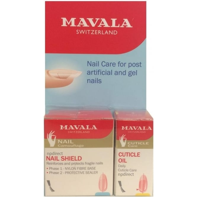 Mavala Post Artificial Kit - Nail Care for Post Artificial and Gel Nails (3x 5ml)