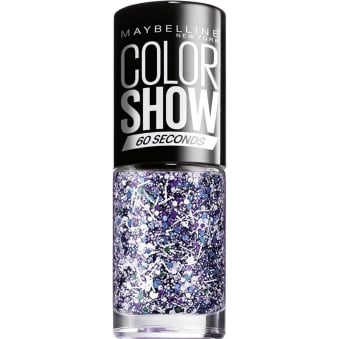 Maybelline Color Show Nail Polish - White Splatter Top Coat (02) 7ML