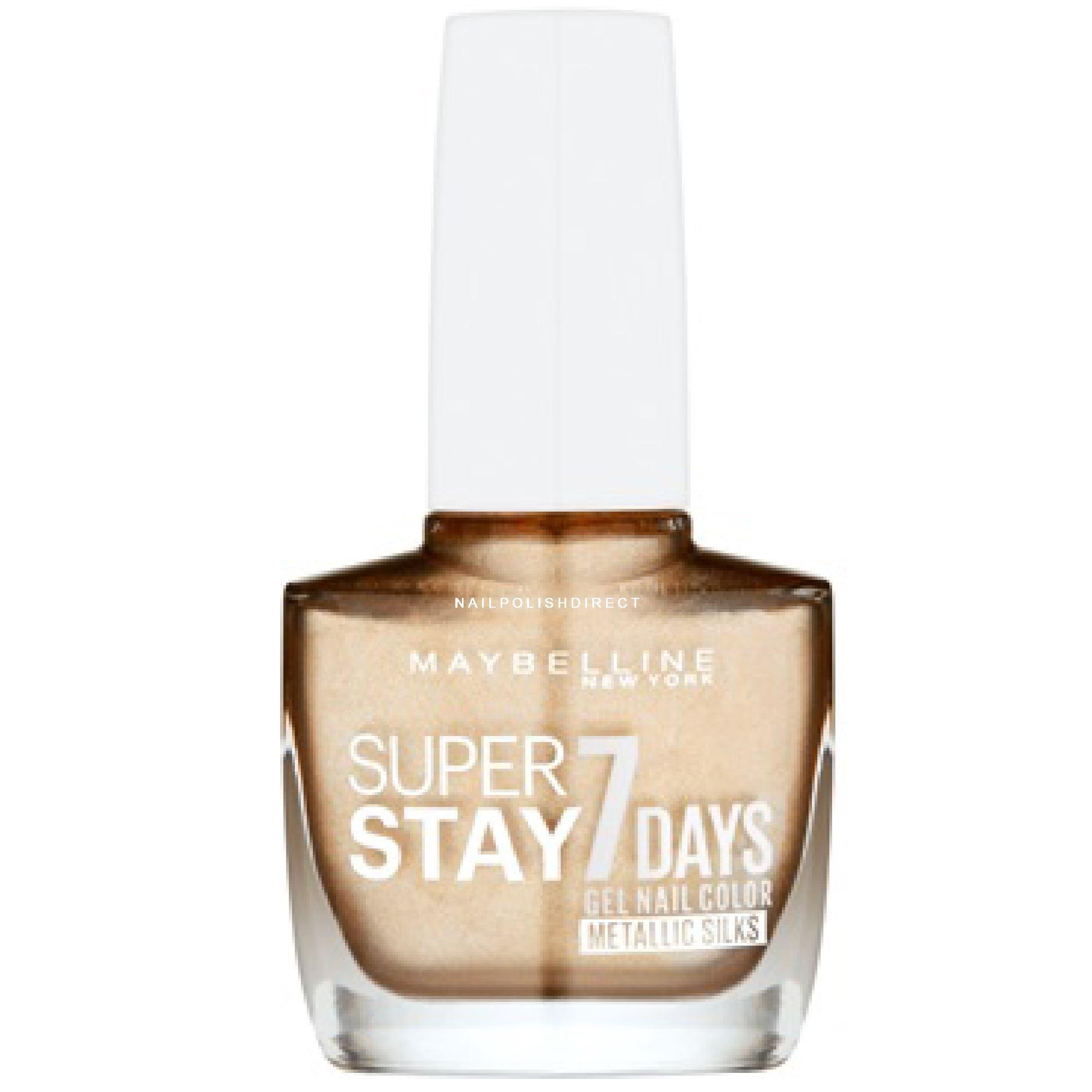 Gold Gel Nail Polish: Maybelline New York Super Stay 7 Days Nail Polish
