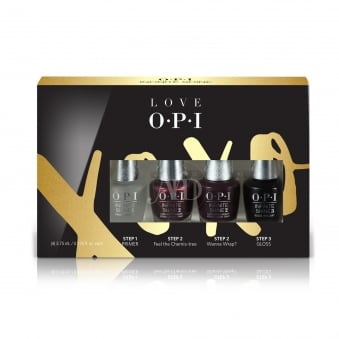 Mini 4 Pack - Love OPI XOXO 2017 Nail Polish Infinite Shine 10 Day Wear (HP J57)