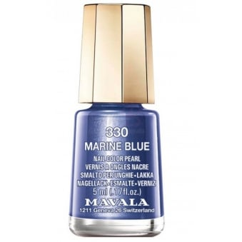 Mini Color Creme Gel Effect Nail Polish - Marine Blue (330) 5ml