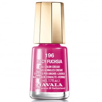 Mini Color Creme Nail Polish Racy Fuchsia (196) 5ml