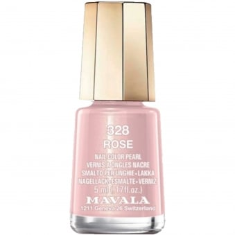 Mini Color Pearl Gel Effect Nail Polish - Rose (328) 5ml