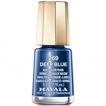 Mini Nail Color Pearl Nail Polish - Deep Blue (269) 5ml