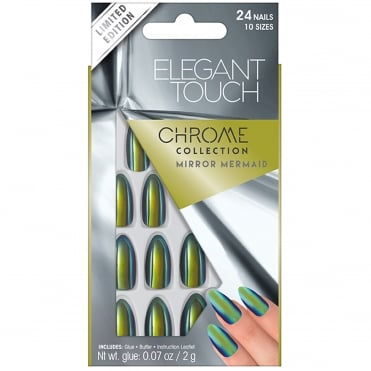 Mirror Chrome False Nails - Mirror Mermaid (24 Nails)