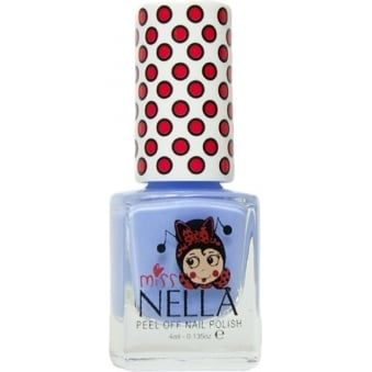Miss Nella Peel Off Nail Polish For Kids - Blue Bell 4ml