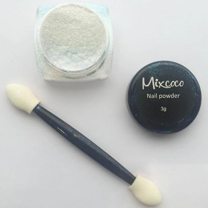 Mixcoco Professional Glitter & Applicator - Blue Nail Powder (3g)