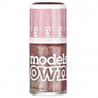 GlitterGel Gel Effect Nail Polish- Crystal Pink (14ML) (SG049)
